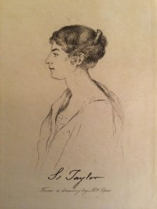 Susannah Taylor Sketch by Amelia Opie Chawton House Library