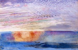 """John Ruskin, """"An Old-Fashioned Sunset"""" (1876)"""