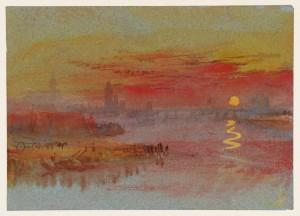 "J.M.W. Turner, ""The Scarlet Sunset"" (1830-1840)"